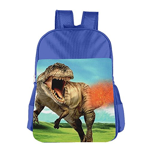 Children's Dinosaur T Rex Fire School Backpack Bookbag For Boys & Girls Aged ()