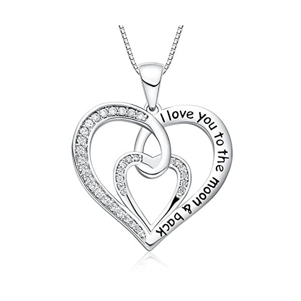 FANCYCD-Holiday-Deals-Week-I-Love-You-to-The-Moon-and-Back-Love-Heart-Necklace-Jewelry-for-Women-Girls-Gifts-for-Girlfriend-Wife-Sister-Grandma-Mom