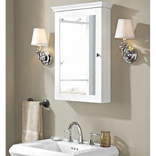 Crosley Lydia Mirrored Wall Cabinet, White