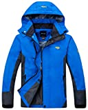 Wantdo Men's Breathable Sports Clothing Removable Polyester Jacket Blue US L