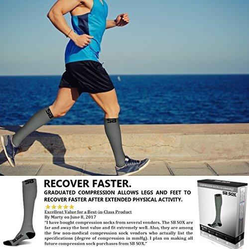 SB SOX Compression Socks (20-30mmHg) for Men & Women - BEST Stockings for Running, Medical, Athletic, Edema, Diabetic, Varicose Veins, Travel, Pregnancy, Shin Splints.