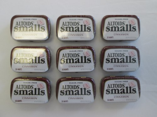 Cheap Altoids Smalls Pocket Size Cinnamon Sugar Free Mint Tins – 9 Pack of .37 Oz (50 Mints)