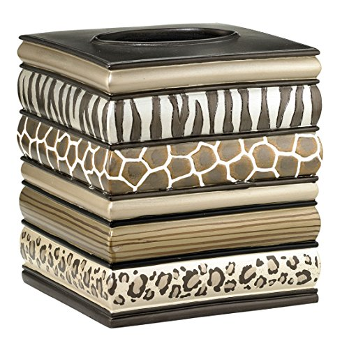 Safari Stripes Bath Collection - Bathroom Tissue Box Cover