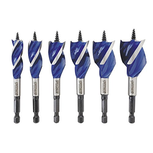 Speedbor 1877239 IRWIN Tools Max Wood Drilling Bits, 4-Inch, 6-Piece ()