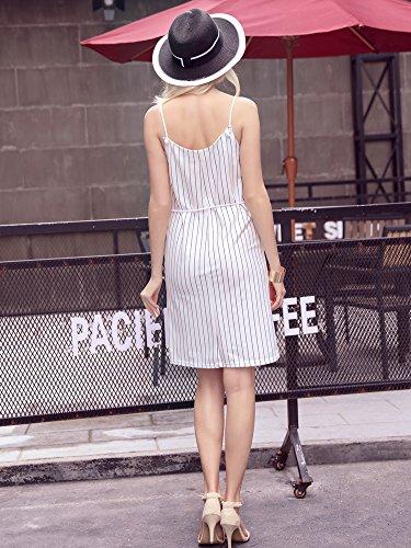 Trägerkleid Damen Ärmellos Bleistiftrock Minikleid Petticoat Kleider Tiefem V-Ausschnitt Cocktailkleid Geöffnete Gabel Nadelstreifen Short Dresses Minirock Pencil Rock Kleider