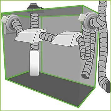 WC Blauberg UK Aluminium Flexibler L/üftungskanal f/ür Abluftventilator Badezimmer Hydrokultur-Zeltfilter K/üche Hausl/üftung