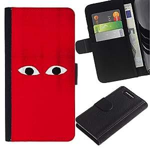 For Sony Xperia Z1 Compact / Z1 Mini / D5503,S-type® Red Character Cartoon Minimalist Monster - Dibujo PU billetera de cuero Funda Case Caso de la piel de la bolsa protectora