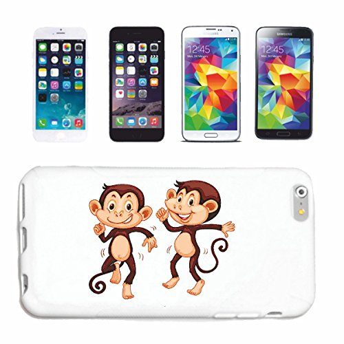 "cas de téléphone iPhone 7 ""MONKEYS FUNNY QUAND DANCING MONKEY MONKEY GORILLA CHIMP SILVER RETOUR APE CHARLY MONKEY KING KONG"" Hard Case Cover Téléphone Covers Smart Cover pour Apple iPhone en blanc"