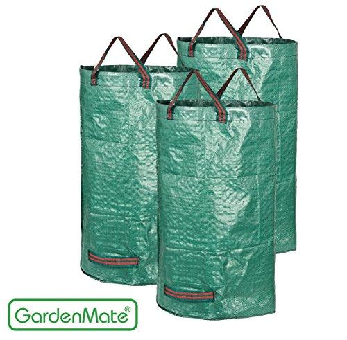 GardenMate® 3x Set Gartensack 120l aus robustem Polypropylen-Gewebe (PP) 150gsm