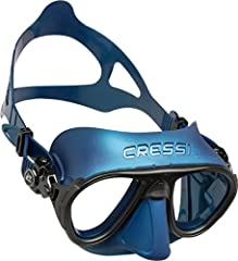 The Cressi Calibro Dive Mask provides visibility and comfort in a compact size. Its hydrodynamic, tapered and low-volume shape conforms to your face for leak-free wear. The dual lens design has great field of view for lateral, wide and lower ...