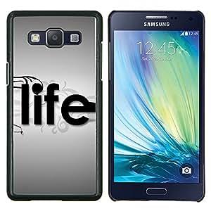 TECHCASE---Cubierta de la caja de protección para la piel dura ** Samsung Galaxy A5 ( A5000 ) 2014 Version ** --Tipografía Vida