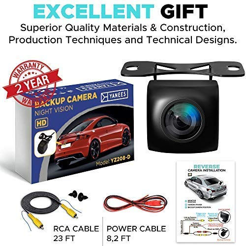 Backup Camera Night Vision - HD 1080p - Car Rear View Parking Camera - Best 170° Wide View Angel - Waterproof Reverse Auto Back Up Car Backing Camera - High Definition - Fits All Vehicles by Yanees by YANEES (Image #7)