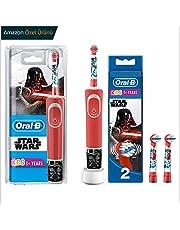 Oral-B Çocuklar İçin Şarj Edilebilir Diş Fırçası + 2'li Yedek Başlık, Star Wars