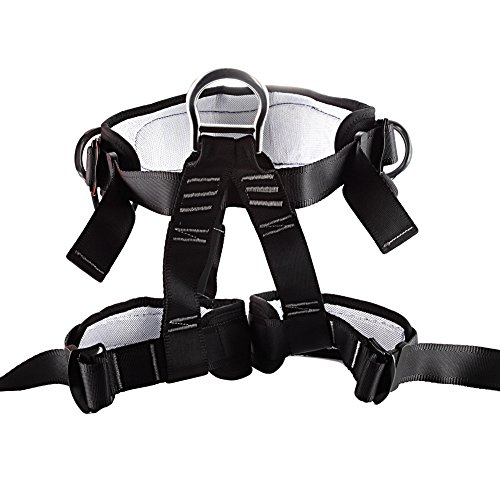 MUMAI-HARNESS-1 Half-body Guide Harness for Outward Band Fire Rescue Caving Mountaineering Safety Belt Rock Climbing Equip (black-2) by Unknown