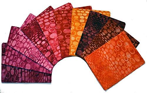 Kaufman Bali Batik (Bali Batiks 9 inch Strip Pack Set of 10 Precut Batik Strips 2.5 Yards total)