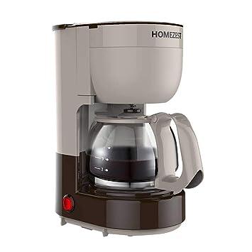 Tipo máquina de goteo doméstica americana automática del café del hogar, pote de cristal resistente de alta temperatura (Color : Gray coffee color): ...