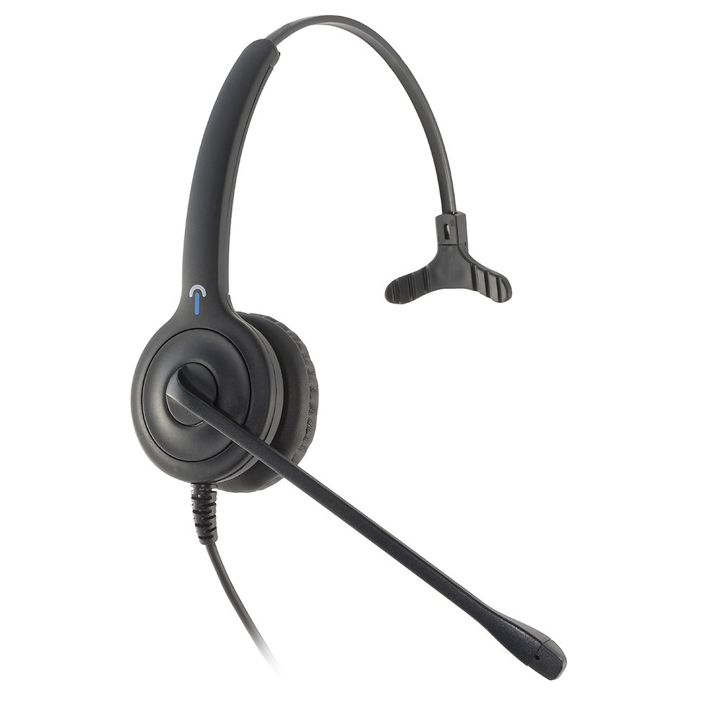 Leitner LH150 Corded USB Computer Headset with Skype for Business Call Control on the cord. 2-Year Warranty Included. Works with PC/Mac