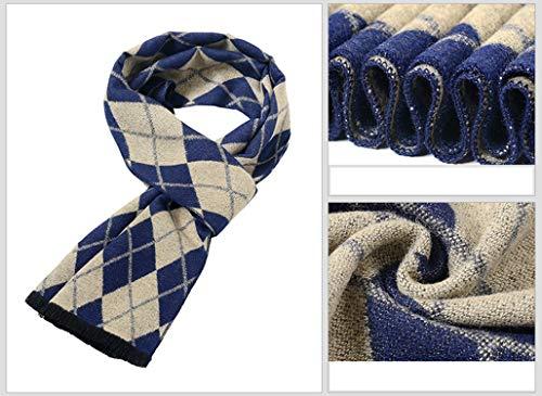 degli di della grata nappa della di uomini autunno 180cm per artificiali beige Amdxd lana l'autunno Sciarpe della 4wYTggq