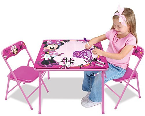 Minnie First Fashionista Erasable Activity Table Set with 3 Dry-Erase Markers by Minnie (Table Fashionista)