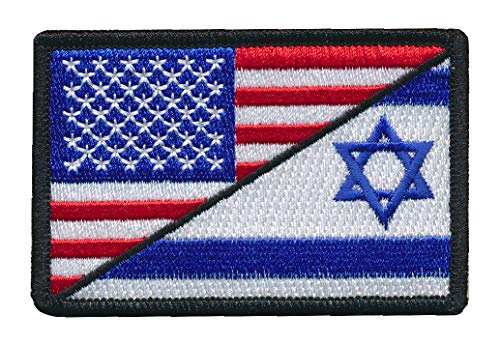 (Tactical USA Israel Flag Jewish Star of David Embroidered Patch (3
