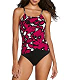 Magic Suit Magicsuit Wild Flower Lisa One-Piece, 8, Maroon/Black