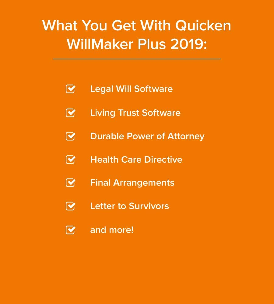 Amazon.com: Quicken WillMaker Premium 2019 Includes Living Trust,  Promissory Note, Get It Together, Special Needs Trust, Credit Repair, and  more eBooks!