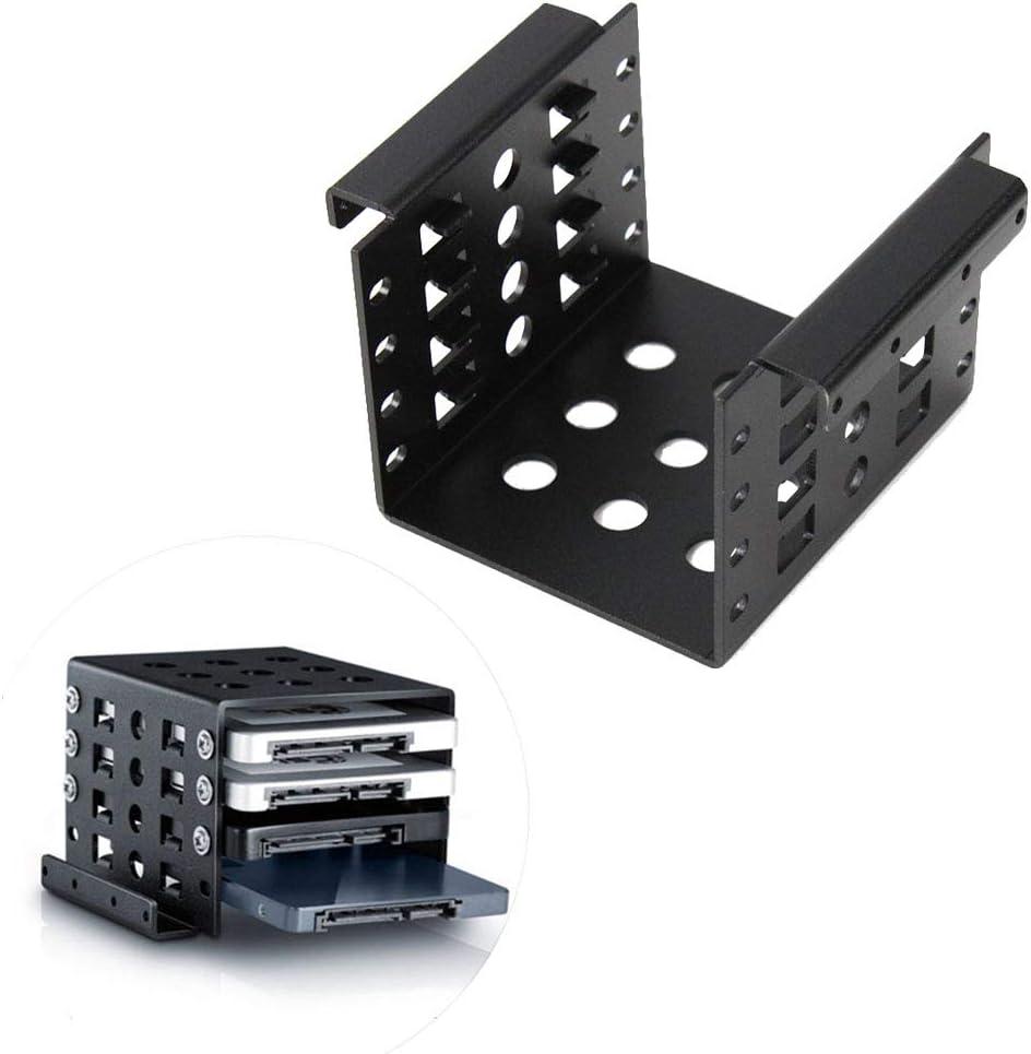 "4 Bay 2.5 to 3.5"" HDD Rack Converter SSD Adapter Mounting Bracket Hard Drive Disk Holder Rack"