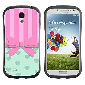 "Hypernova Slim Fit Dual Barniz Protector Caso Case Funda Para SAMSUNG Galaxy S4 IV / i9500 / i9515 / i9505G / SGH-i337 [Arqueamiento Pink Hearts Líneas""]"