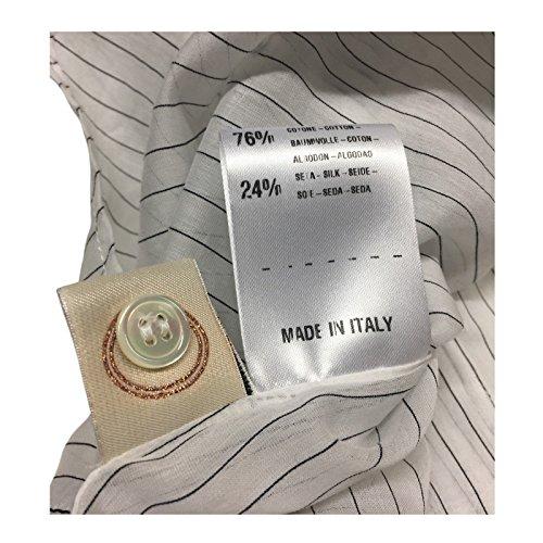 nero 76 In Lauro Camicia Italy Mod Donna 24 Bianco Seta Tela Made Cotone xftPYnx