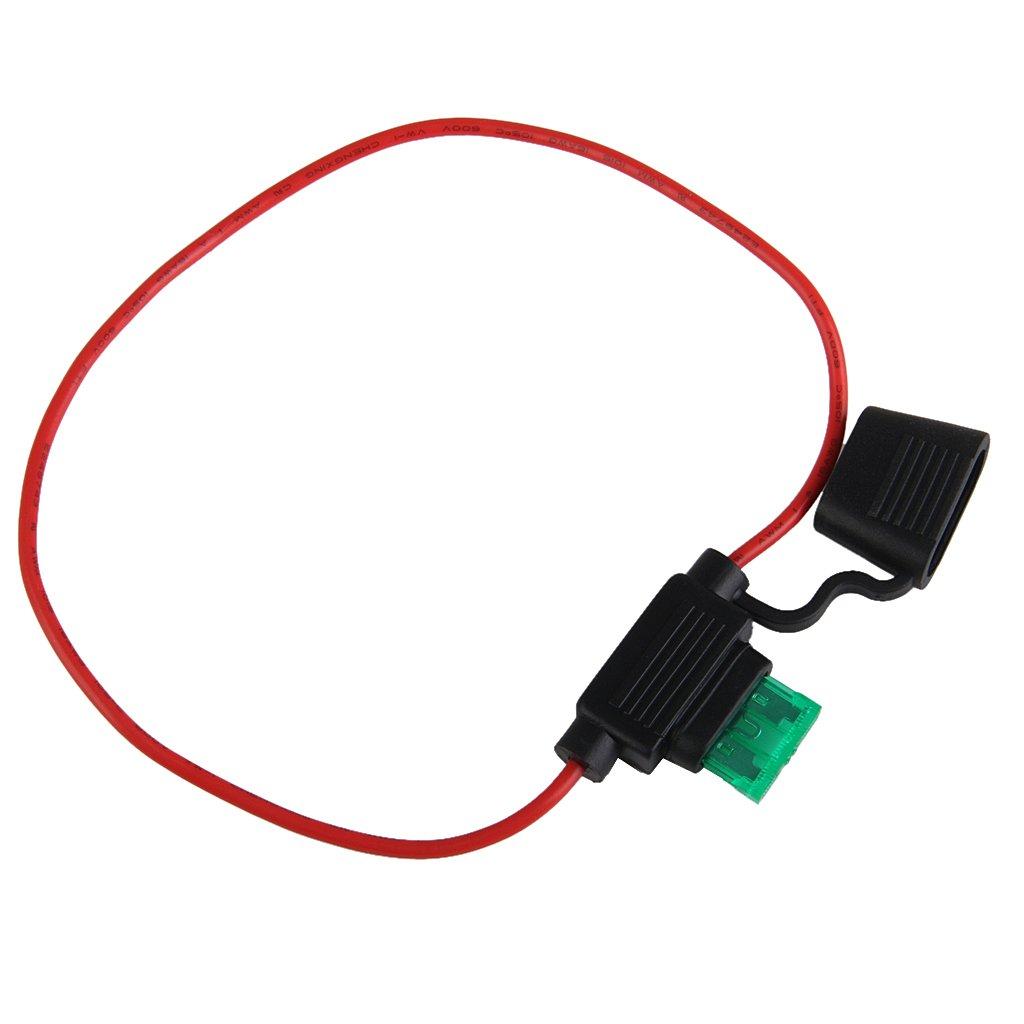Sharplace 2pcs Support Titulaire Ligne Mini Fusibles Accessoires de Moto V/éhicule 12V 30A