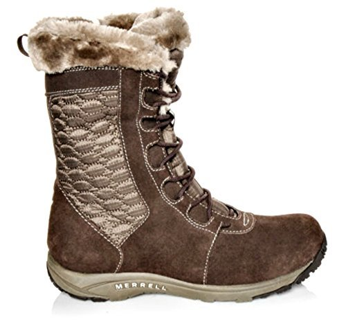 Merrell Womens Kamori Fleece Lined Mid Lace Up Boot (8)