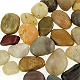 "Mixed color river rocks, 5.5 lb. Bag, 3/4"" to 1 1/2"""