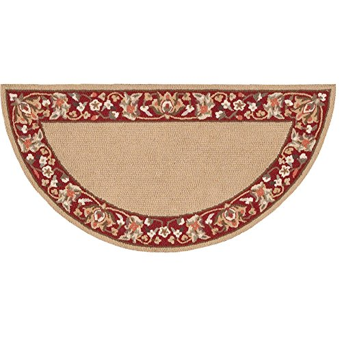 Gold Rug Antique Rectangle (Nourison Country Heritage (H801) Gold Rectangle Area Rug, 1-Feet 9-Inches by 2-Feet 9-Inches (1'9