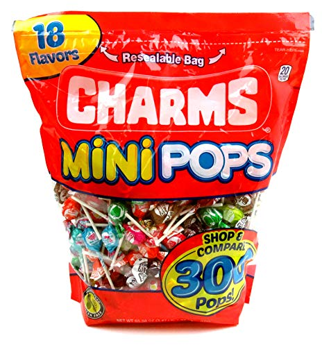 Charms Mini Assorted Pops, 300 Pops Included -