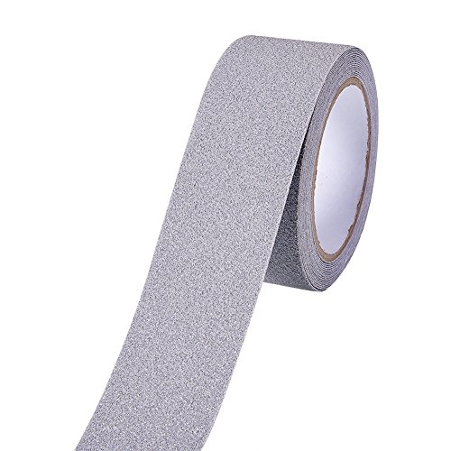 GRAY Safety Adhesive Sticker Grip Non Skid Tape Anti-Slip Adhesive Stickers Mat For Stairs Floor Stairway 5Mx5CM