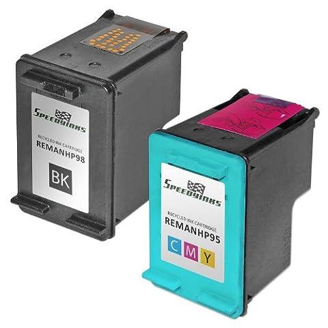 Speedy Inks - 2PK Remanufactured replacement for HP 98 C9364WN & HP 95 C8766WN Ink Cartridge Set: 1 Black & 1 (95 98 Hp Ink Cartridge)
