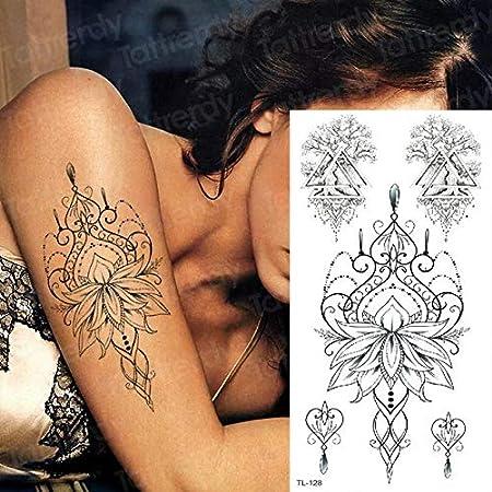 4 Unids, Sternum Etiqueta Engomada Del Tatuaje Temporal Debajo De ...