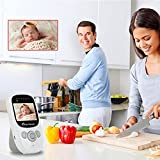 Baby Monitor with Camera and Audio, Infrared Night Vision Digital Camera with Temperature Detection, 2.4 Inch LCD Screen Display Video Baby Kids Monitor with Rechargeable Battery and Lullabies