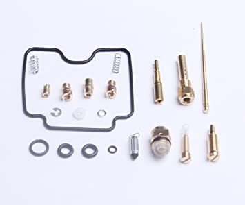F FIERCE CYCLE Motorcycle Carburetor Repair Rebuild Kit for Yamaha Grizzly 660 2002-2005