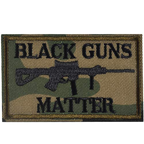 SHELCUP Black Guns Matter - 2x3 Decorative Morale Patch (Multicam with Spice), Green