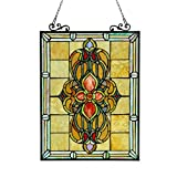 Chloe Lighting Metal Stained Glass Window Panels Chloe Lighting Avalon Stained Glass Victorian Window Panel 18X25 18.46 X 25.55 X 0.18 Inches Black Model # CH3P320VI24-GPN