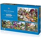Gibsons Flora and Fauna Jigsaw Puzzle (4 x 500 pieces)