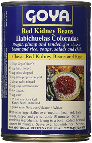 Amazon Com Goya Red Kidney Beans Can 15 5 Oz 3 Pack Kidney Beans Produce Grocery Gourmet Food