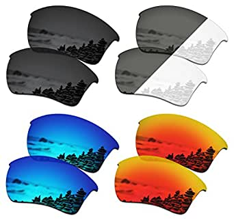 SmartVLT Set of 4 Men's Replacement Lenses for Oakley Half Jacket 2.0 XL Sunglass Combo Pack S01