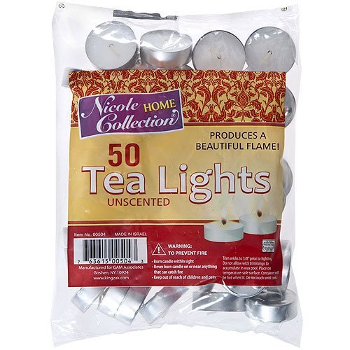 Nicole Home Collection 50 Unscented Tealights