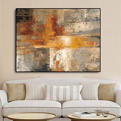 RQMQRL Style Nordique Abstrait Or Peinture À l'huile sur Toile Affiches Et Impressions Scandinavie Art Mur Photos pour Le Salon Home Decor