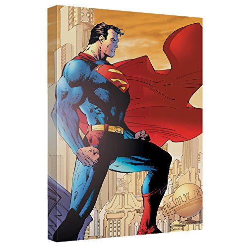 [Superman City Watch Canvas Wall Art With Back Board] (Iconic Movie Characters Costumes)