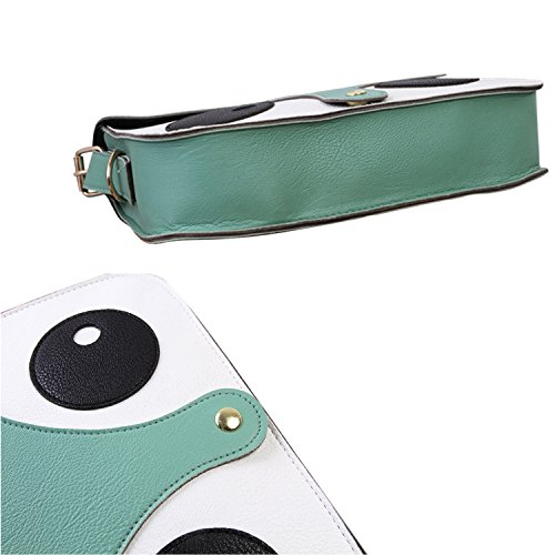 Fox Handbag Bag Small PU Women's Messenger Cartoon Green Leather Shoulder EgU7fqS