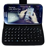 TOP® Wireless Removable Bluetooth Keyboard Leather Case Cover For Samsung Galaxy S4, SIV, I9500. 6~10 Days Delivery...