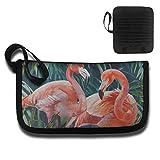 Gili Flamingos Couple Travel Passport & Document Organizer Zipper Case